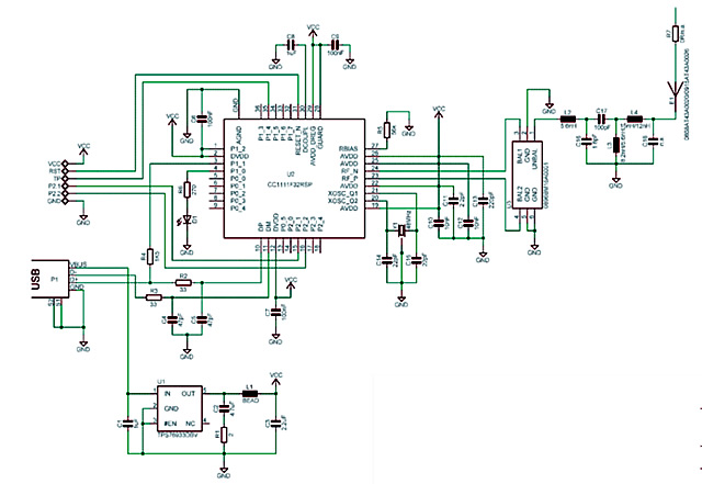 chronos the internet of things on your wrist > engineering com dongle rf transceiver schematic