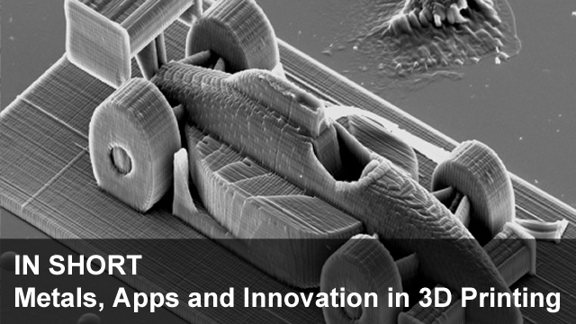 In Short – Metals, Apps and Innovation in 3D Printing