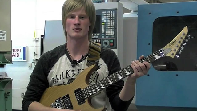 Student Designs and Builds Custom Guitar