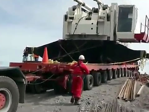 Gravity Wins in Large Crane Move Fail
